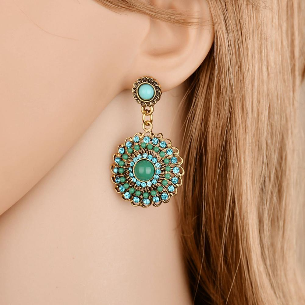 Hollow Out Leaf Design Percé Boucles d/'oreille pendantes style Earring Eardrop Boucles d/'oreilles
