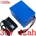 36V1000W 1500W Электрический аккумулятор скуте 36v 40ah Электрический велосипед батарея 36V 40AH литий-ионный аккумулятор с 50A BMS и зарядным устройством