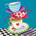 3Pcs New Tea Party Poker Coffee Cup Metal Cutting Dies Stacked Cups Stencil DIY Scrapbooking Cards Decorative Craft Embossing