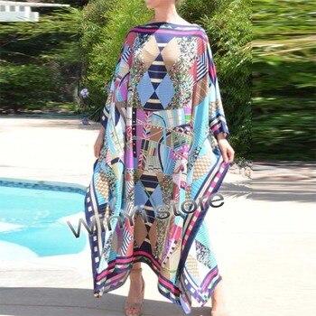Dashiki Dress Print Bohemia Hijab Loosevetidos Elegantes Muslim Abaya Bazin Robe Gown Broder Riche Sexy Lady Party maxi beach - sale item Swimwears