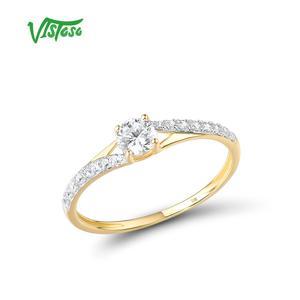 VISTOSO Gold Rings For Women Genuine 9K