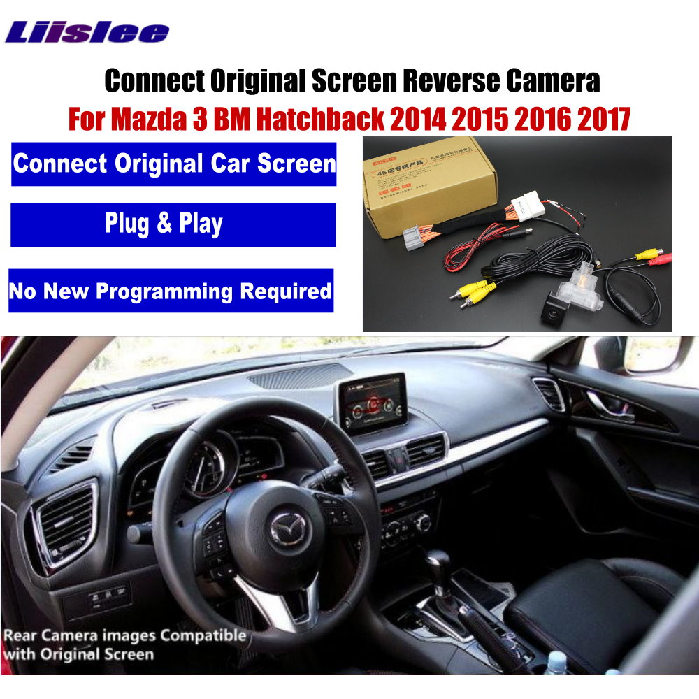 AUTO CAM For Mazda 3 Mazda3 BM Hatchback 2014 2015 2016 2017 2018 2019 Rear View Reverse Camera Compatible Original Screen