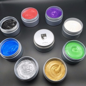 Hair Color Fashion Unisex Hair gel Temporary Colors Cream BLUE Gray Hair Dye Wax Easy Wash Plants Component better than others mofajang 7 colors 120g unisex hair color wax mud hair dye hair color cream blue burgundy gray hair dye wax easy wash plants dye