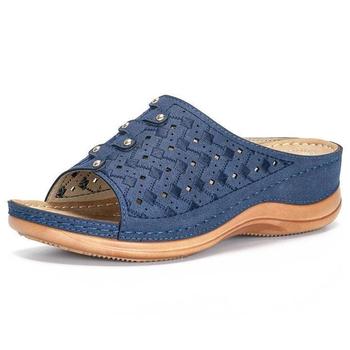 Sandały damskie kliny buty damskie buty na wysokim obcasie sandały letnie buty 2020 Flip Flop Chaussures Femme sandały na platformie Plus rozmiar tanie i dobre opinie NiZouKai CN (pochodzenie) podstawowe Zwiększające wysokość Otwarta Med (3 cm-5 cm) 3-5 cm Na co dzień Wsuwane Dobrze pasuje do rozmiaru wybierz swój normalny rozmiar