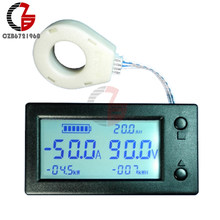 DC 300V 100A 200A 400A indicateur de capacité de la batterie voltmètre numérique ampèremètre coulomètre puissance énergie wattmètre Hall capteur Volt