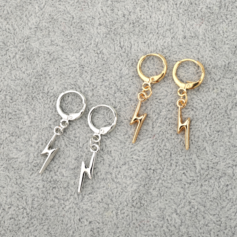 Dayoff Simple Geometric Mini Lightning Leaf Cross Small Hoop Huggie Earrings For Women Trendy Elephant Tail Circle Jewelry E659