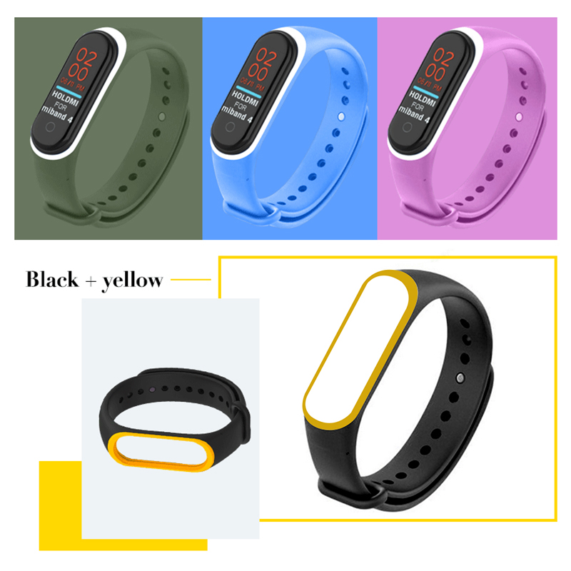 Silicone Watch Band For Xiaomi Mi Band 4 Replacement Bracelet Wristband 22 Colors Wrist Strap For Miband 4 Nfc Watch Strap