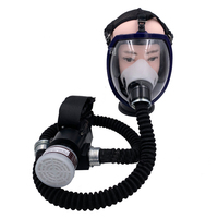 Electric Constant Flow Supplied Air Fed System Full Face Gas Mask Respirator Workplace Safety Supplies Protective Mask