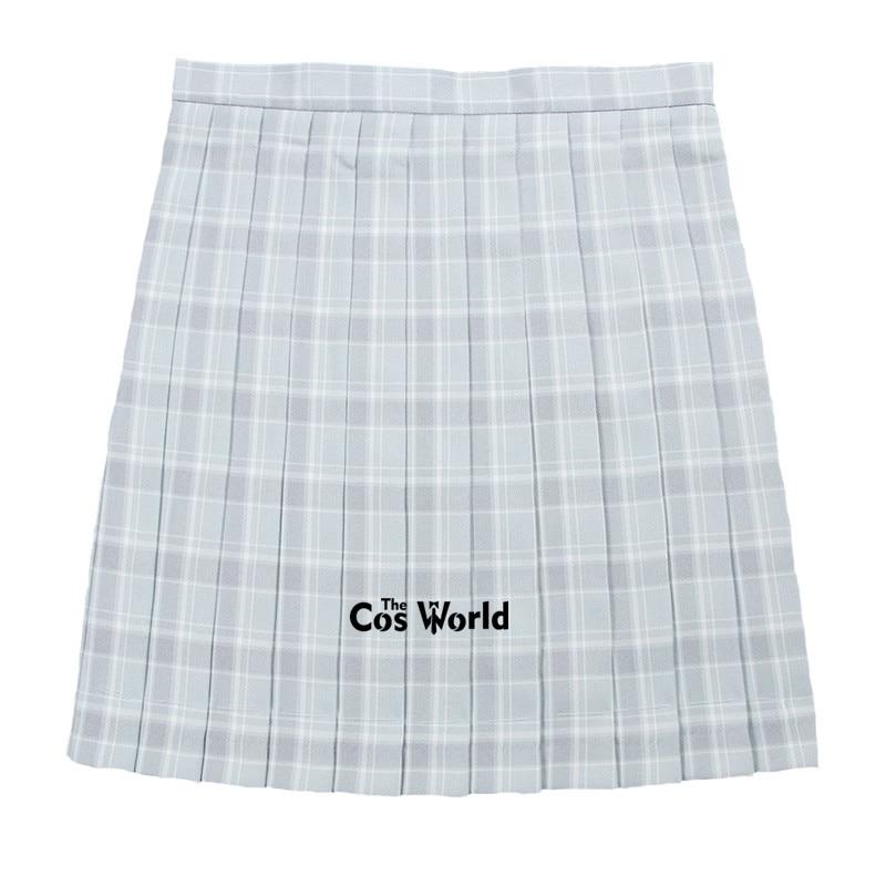 [Dream Gray] Girl's Summer High Waist Pleated Skirts Plaid Skirts Women Dress For JK School Uniform Students Cloths