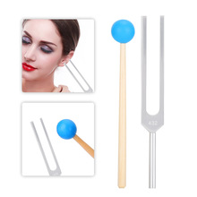 432HZ Aluminum Alloy Tuning Fork Wood Hammer Sound Healing Therapy Tool Set Aluminum Alloy, Wood Tuning Fork Hammer Storage Bag