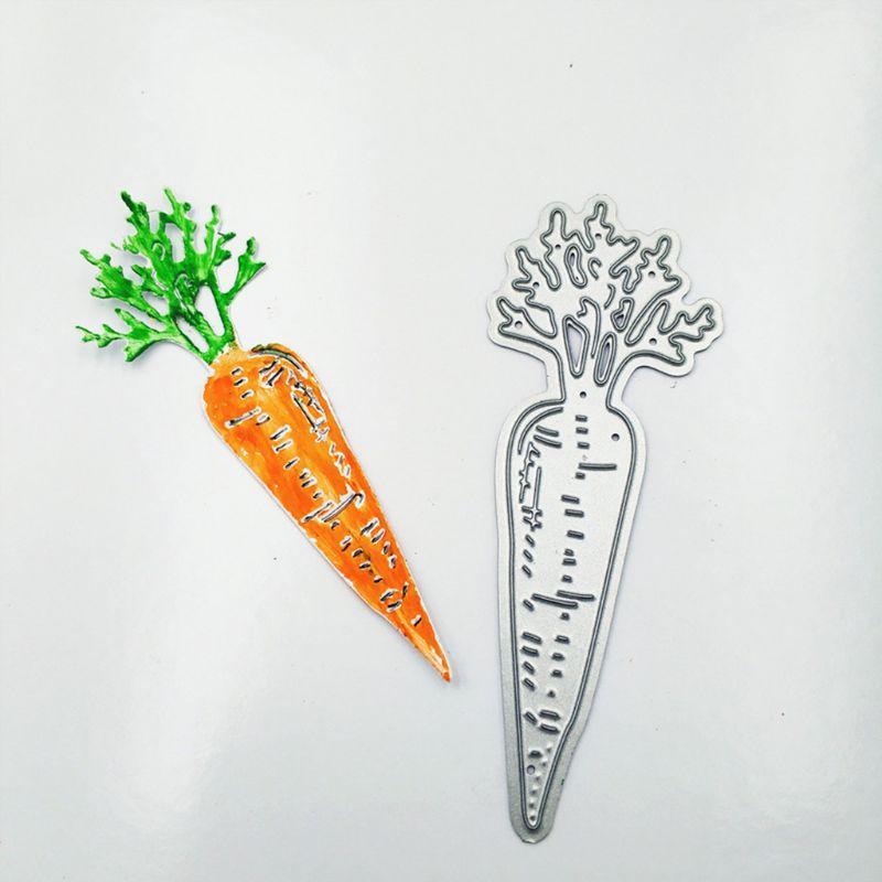 Carrot Shape Metal Cutting Dies Stencil DIY Paper Greeting Card Scrapbooking Album Stamp Paper Card Decoration