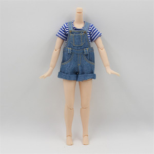 Image 3 - Outfits for Blyth doll Denim overalls for the 12 inch doll JOINT body cool dressing 1/6 BJD ICY DBS