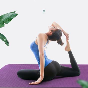 Mata do jogi antypoślizgowa mata do ćwiczeń sportowych do ćwiczeń sportowych dla początkujących maty gimnastyczne do ćwiczeń środowiskowych tanie i dobre opinie CN (pochodzenie) 6 mm (dla początkujących) BJ-YM02 183cm * 61cm