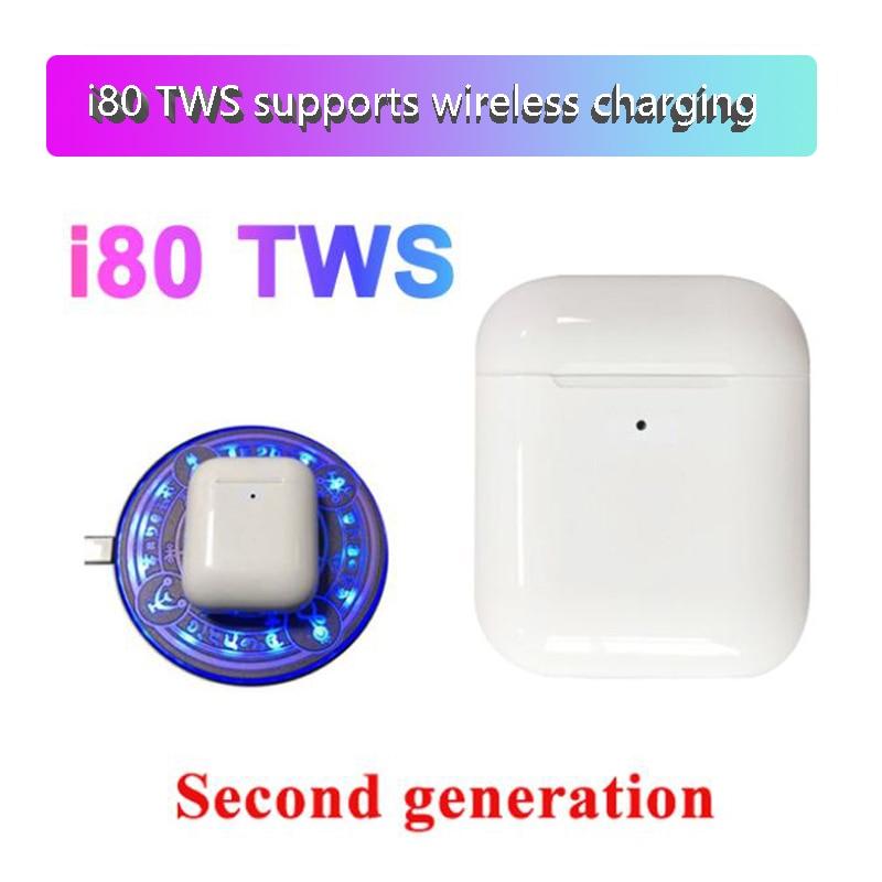 I80 TWS Bluetooth 5.0 Headset  6D Bass Touch Control Wireless Earphone For Iphone Android PK I15 I10 I21 I50 I30 I20 I60