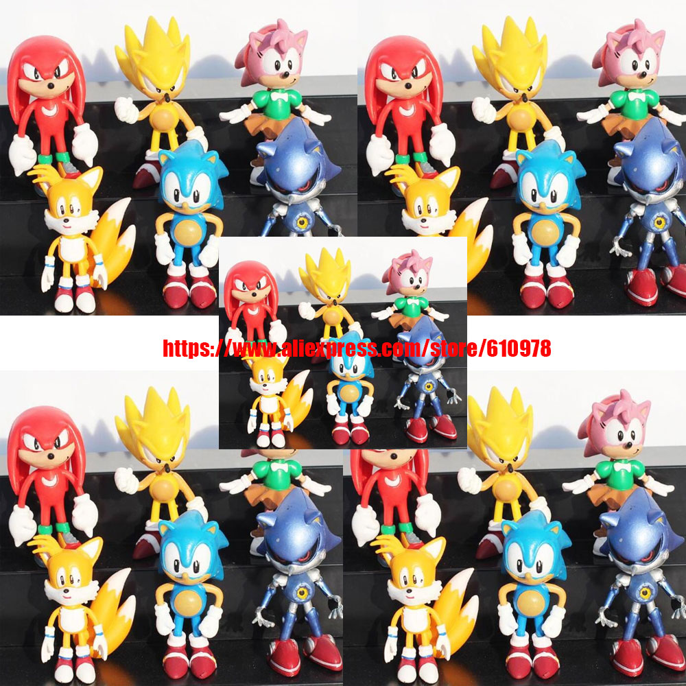 Ohmetoy 5 Sets Super Sonic The Hedgehog Shadow Action Toy Figures Amy Rose Tails Mephiles Knuckles Collection Wholesales Action Toy Figures Aliexpress