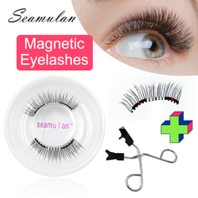Magnetic Eyelashes With 2 Magnets 3D False Lashes Natural For Mink Eyelashes Extension Long Reusable faux cils magnetique mekeup magnetic eyelashes 5pairs with liquid magnetic eyeliner natural waterproof long lasting soft pestañas magneticas cils magnetique