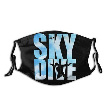 Leisure Skydiving Gifts For Skydivers Parachuting Extreme Sports With Replaceable PM2.5 Filters Mouth Mask Sunproof Cover