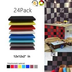24Pack-Square placa acústico espuma estudio tratamiento acústico aislamiento acústico absorción de sonido azulejos paneles de insonorización ignífugo