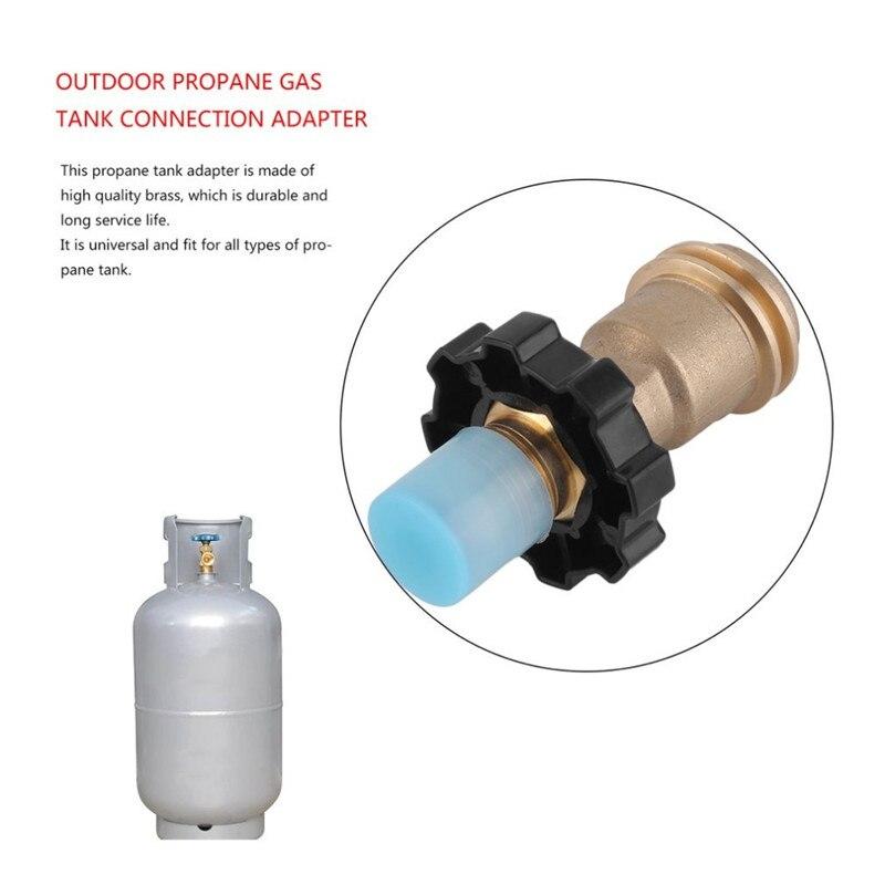 Quemador de Estufa de Gas Adaptador de V/álvula Gas Conmutaci/ón para Tanque Plano Universal Apto Cilindro de Gas Licuado