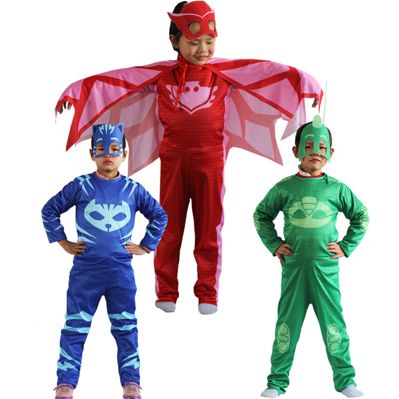 PJ Masks Children Christmas Halloween Costume Pj Mask Catboy Gekko Owlette Costume Cosplay Clothes Kids Toys For Children Gifts