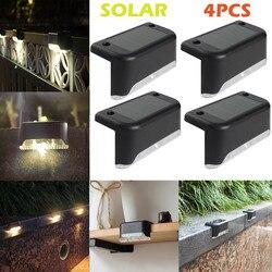 4 sztuk LED ciepły biały ścieżka słoneczna schody światło zewnętrzne ogród ogrodzenie podwórka kinkiet na zewnątrz lampa krajobrazowa 2.28 na