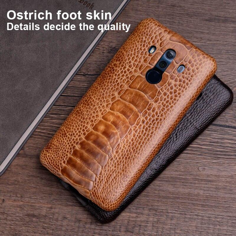 Funda de teléfono de piel de avestruz para Huawei Mate 20 10 9 Pro P10 P20 Lite borde suave de TPU funda para Honor 8X Max 9 10 Nova 3 3i Capa - 6