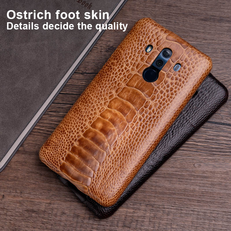 Ostrich Skin Phone Case For Huawei Mate 20 10 9 Pro P10 P20 Lite Soft TPU Edge Cover For Honor 8X Max 9 10 Nova 3 3i Capa - 6