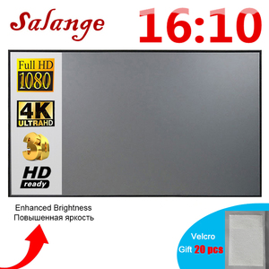 Salange Projector Screen 16:10 ,100 120 inch Reflective Fabric Cloth Projection Screen For YG300 XGIMI DLP LED Video Beamer