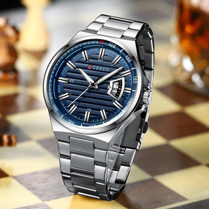 Image 4 - Men Luxury Brand Quartz Watch CURREN Stainless Steel Band Wristwatch Fashion Style Watch Man Auto Date Relogio Masculino