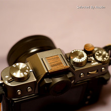Ahşap ahşap yumuşak deklanşör düğmesi Fuji Fujifilm için XT30 X T30