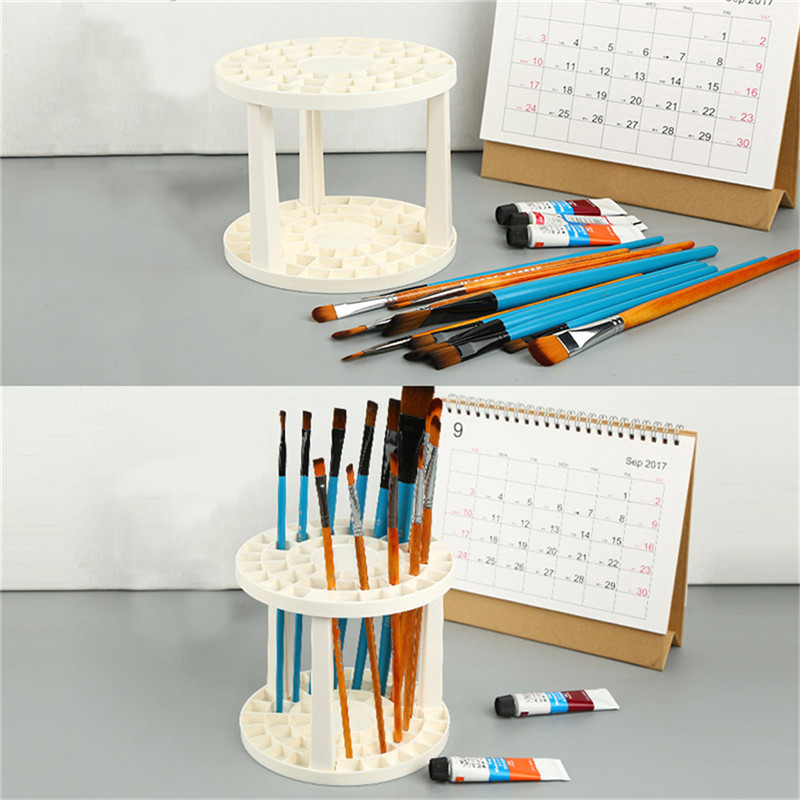 Square Hole Makeup Brush Holder Collapsible Tree Rack Art Brushes Desplay Holders Drying Stand Storage Makeup Tool