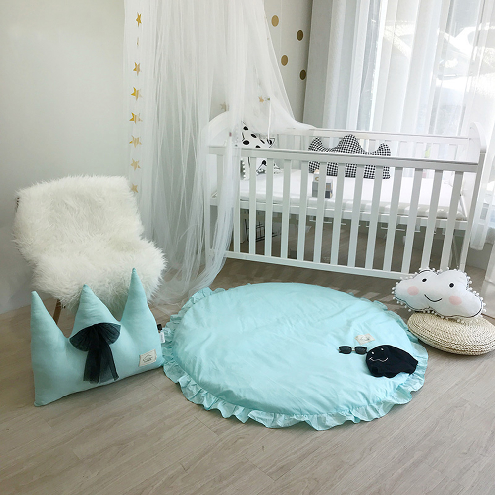 Play Mat Baby Kids Game Blanket Diameter 120CM Floor Mats Children Room Decoration Rug Soft