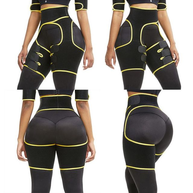 Slim Thigh Trimmer Leg Shapers Slender Slim Belts Sweat Shapewear Toned Muscles Band Thigh Slimmer Wraps 2