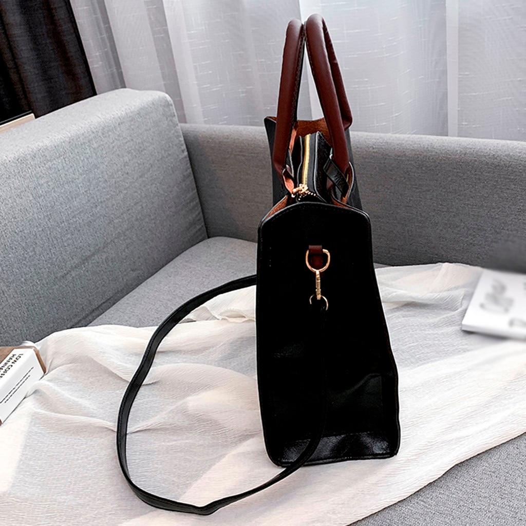 Ensemble sacs 3 pièces mode en cuir PU dames sac à main 84