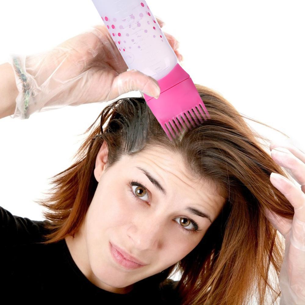50oz Professional Hair Dye Applicator Comb Bottle Salon Stain Dispensing Brush Simple and Portable Design Practical