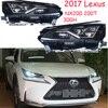 2017y auto bupmer testa luce per Lexus faro NX200 NX200T NX300T accessori auto All in di nebbia del LED per Lexus faro