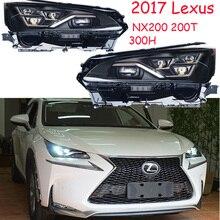 2017y 자동차 bupmer 헤드 라이트 렉서스 헤드 라이트 NX200 NX200T NX300T 자동차 액세서리 렉서스 헤드 램프에 대 한 LED 안개에 모두