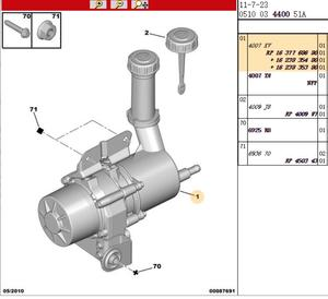 Image 5 - LittleMoon Originale di marca nuova macchina volante elettronico pompa booster idraulica 1637768680 4007XV per Peugeot 307 Citroen C4