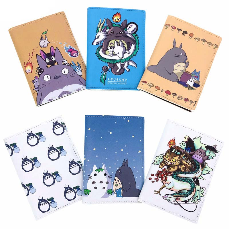 6 Styles Totoro Family Travel Accessories Passport Holder PU Leather Travel Passport Cover Case High Quality Card ID Holders