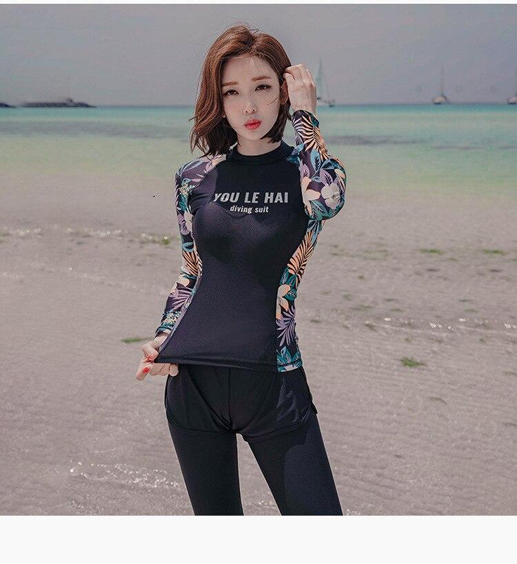2021 PEIFU Muslim Swimwear new Women Modest  Long Sleeves Sport Swimsuit 3pcs Islamic Burkinis Wear Bathing Suit