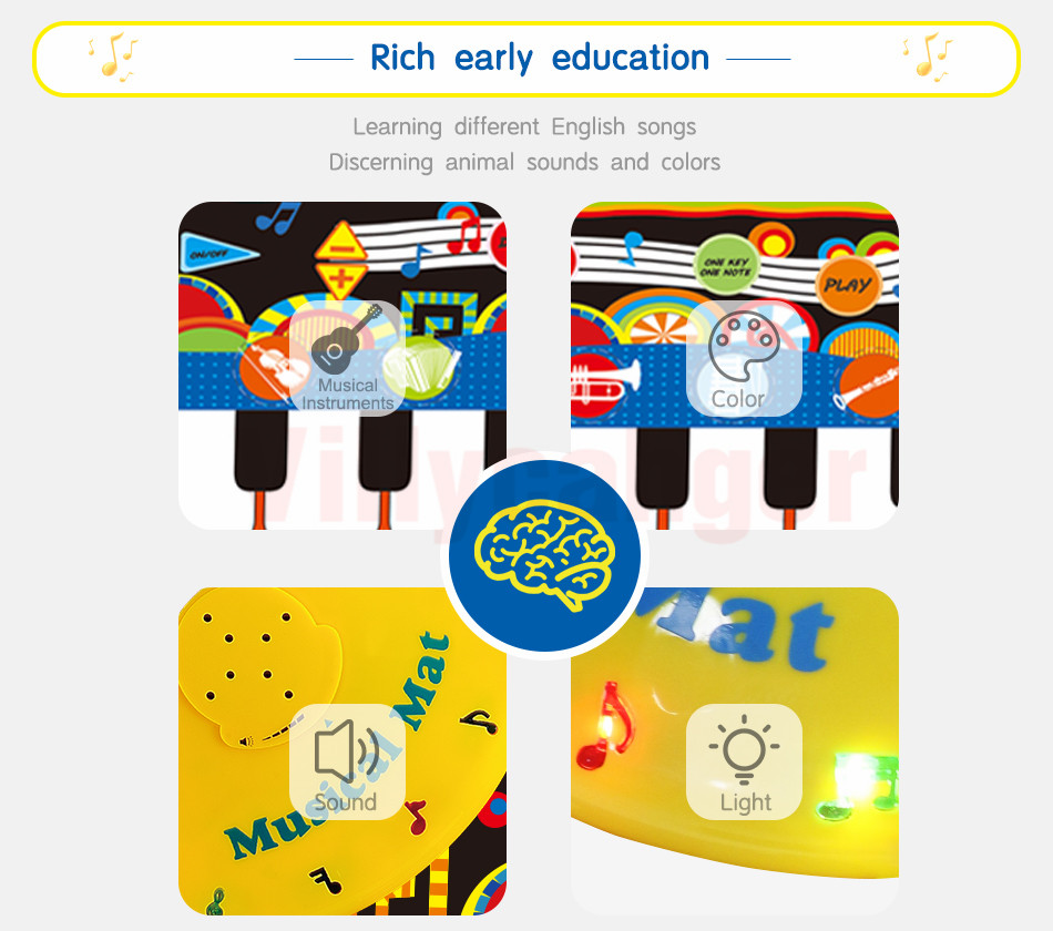 H6293ee95068c40e8aca48b09665d87efN 110x36cm Musical Piano Mat Baby Play Mat Toy Musical Instrument Mat Game Carpet Music Toys Educational Toys for Kids Xmas Gift