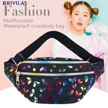 Pouch Waist-Packs Holographic Butterfly Belt-Bag Laser-Chest-Phone Banana Pink Female