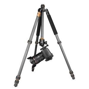Image 4 - QZSD Beike Q999C Carbon Fiber Professional Tripod Monopod Ballhead Changeabel For DSLR Camera 1400g Netweight 159cm max height