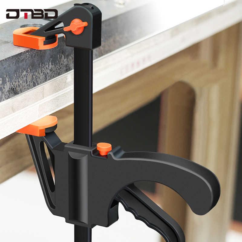 DTBD Penyebar Kerja Bar Clamp F Clamp Alat DIY Tangan Kecepatan Memeras Cepat Ratchet Rilis Klip Kit 4 Inch kayu