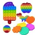 Игрушка антистрессовая Pop для взрослых и детей, радужная пузырьковая игрушка для снятия стресса, сенсорная игрушка для снятия аутизма