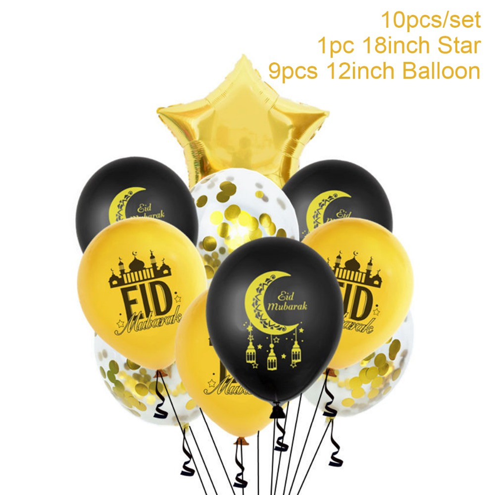 EID MUBARAK Balloon Ramadan Decor Islamic Ramadan And Eid Decor For food Eid Al Adha EID Muslim decor Ramadan Gift