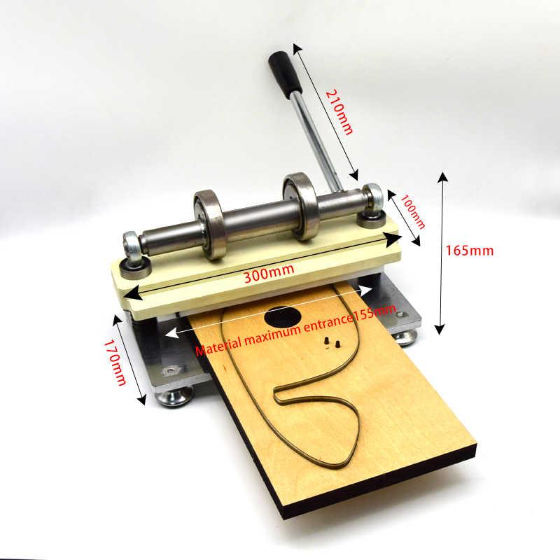SMVAUON Double roue main en cuir Machine de découpe papier Photo PVC/EVA feuille moule coupe bricolage en cuir Machine de découpe