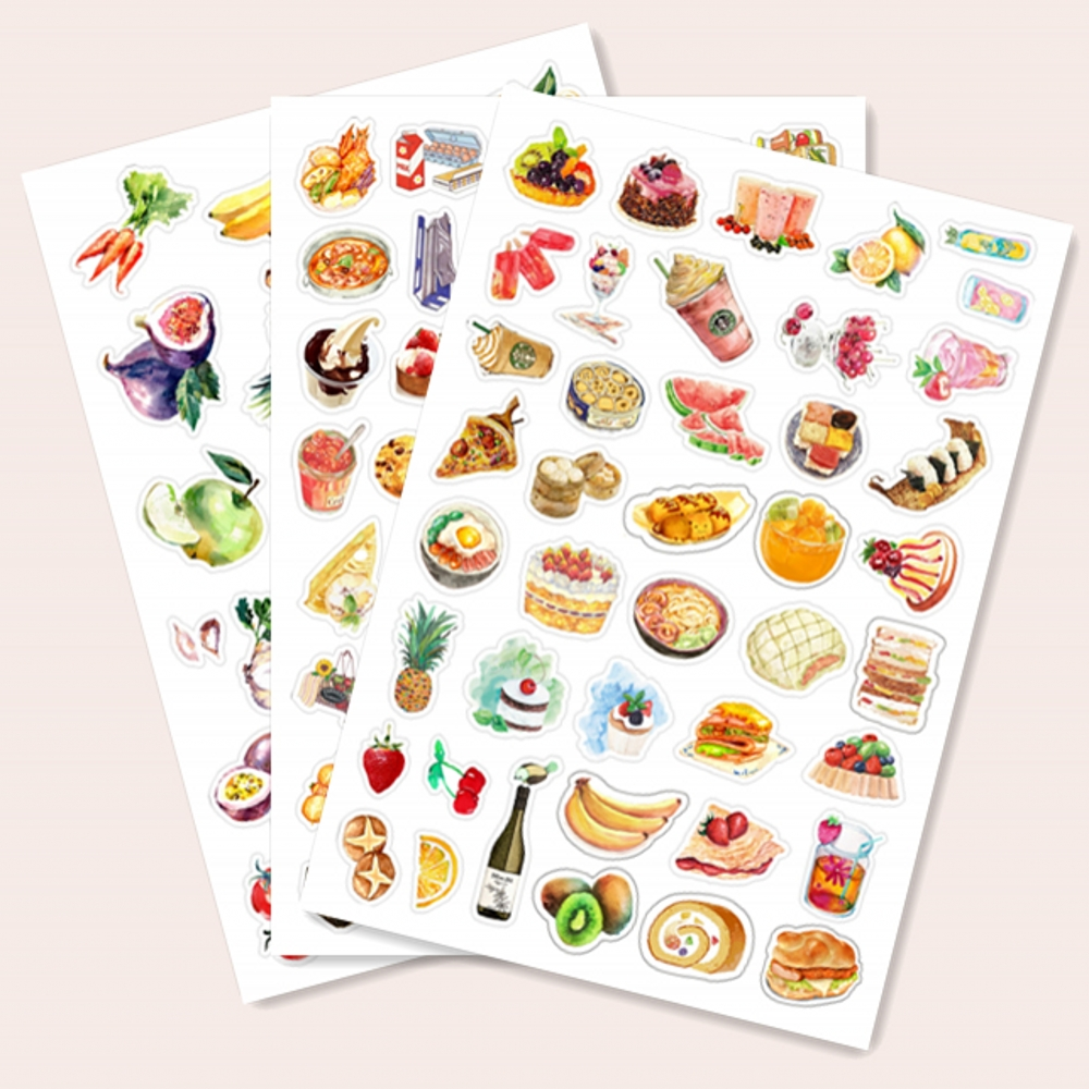 1Bag Vintage Chinese Food Sticker DIY Craft Scrapbooking Album Junk Journal Planner Decorative Stickers