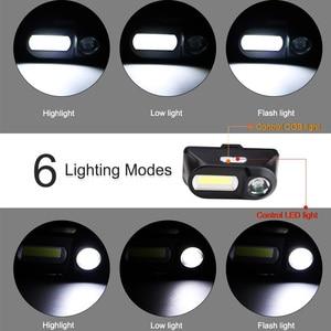 Image 2 - Mini lampe frontale Portable XPE COB rechargeable par USB LED, lampe torche idéale pour la pêche ou le Camping