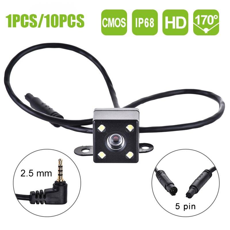 5 Pin Автомобильная камера заднего вида ночного видения 170 градусов широкоугольный запись парковки водонепроницаемая цветная видеокамера